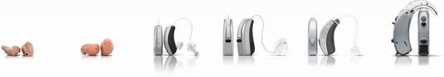 Hörgeräte Größenübersicht